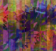 Patchwork Abstract by Darlene Lankford Honeycutt