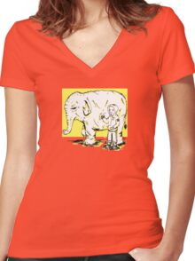 Moment Before the Riot Women's Fitted V-Neck T-Shirt