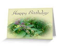 Birthday Greeting Card - American Beautyberry Shrub Greeting Card