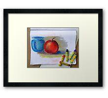 Petit Exercice En Pastel L'huile Framed Print