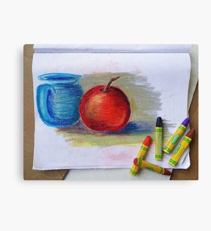 Petit Exercice En Pastel L'huile Canvas Print