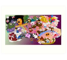 Mei and Friends Collage Art Print