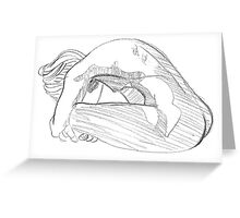 October Nude Greeting Card