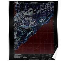USGS TOPO Map Guam Dededo 462382 2000 24000 Inverted Poster