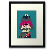 Aoba + Gas Mask Framed Print
