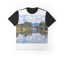 A bridge over untroubled waters. Graphic T-Shirt