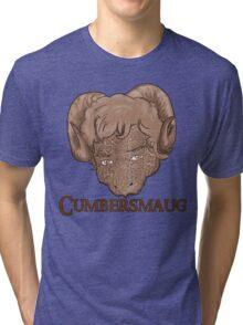Cumbersmaug (Sepia)  Tri-blend T-Shirt