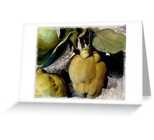 Quince  Greeting Card
