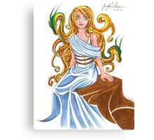 Cerce with her Dragons Canvas Print
