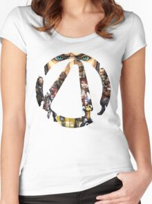 Borderlands - Characters and Vault Women's Fitted Scoop T-Shirt