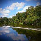 Boat On The River by Derek Little