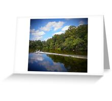 Boat On The River Greeting Card
