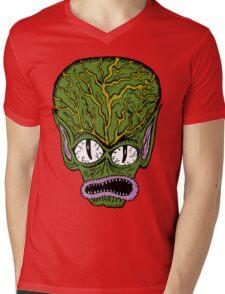 Saucer Man Mens V-Neck T-Shirt