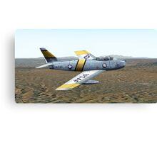 F-86 Sabre Jet Canvas Print