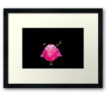 Pink Little Song Bird Framed Print