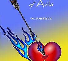Saint Teresa of Avila, Heart Pierced with Flaming Arrow by ShoaffBallanger