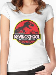 Doc Malcolm's Driving School Women's Fitted Scoop T-Shirt