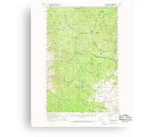USGS Topo Map Washington State WA Loup Loup 242078 1956 62500 Canvas Print