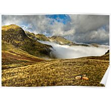 Crinkle Crags & Bow Fell - Cumbria Poster