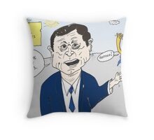 Euroman and Jose Manuel Barroso caricature Throw Pillow