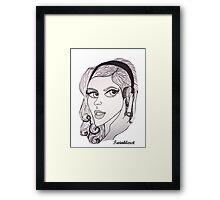Christina Aguilera - 2012 Framed Print