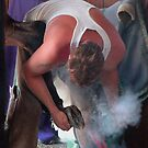The Farrier at Work  by Caroline Anderson