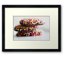 Freckle Stack Framed Print