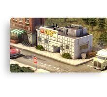 Hamburger shop Canvas Print