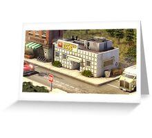 Hamburger shop Greeting Card