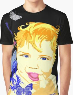 Cute Baby with Dark Blue Eyes Graphic T-Shirt