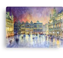 Belgium Brussel Grand Place Grote Markt Metal Print