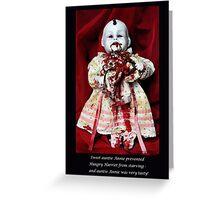 NURSERY CRYMES Hungry Harriet Greeting Card