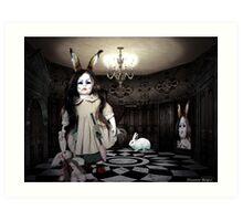 NURSERY CRYMES Rabbitina 'In a Doll House' Art Print