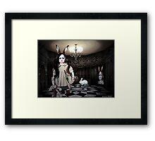 NURSERY CRYMES Rabbitina 'In a Doll House' Framed Print