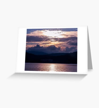 Calm sunset on the Adriatic Greeting Card