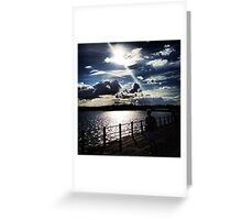 View from the afternoon. Greeting Card