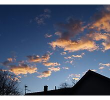Sky is on fire... Photographic Print
