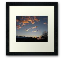 Burning sky 2 Framed Print