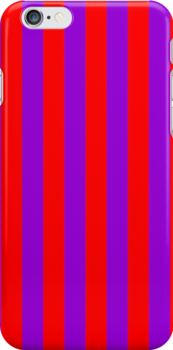 IPHONE CASE - Red & Purple Stripes. Image No. 166 by chompo