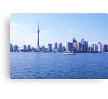 CN Tower Skyline Blue Canvas Print
