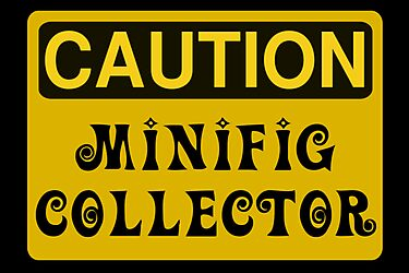 Caution Minifig Collector Sign by Customize My Minifig by ChilleeW