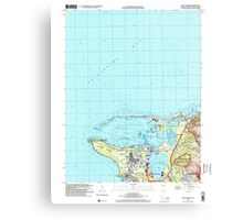 USGS TOPO Map Guam Apra Harbor 462371 2000 24000 Canvas Print