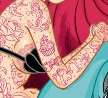 Hipster Mermaid Sticker