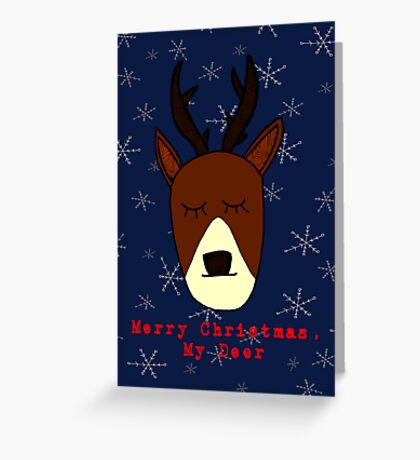Merry Christmas, My Deer Greeting Card