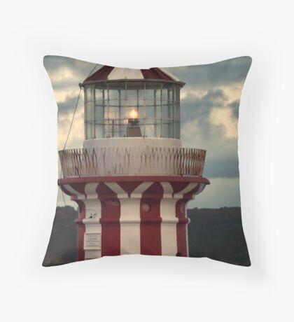 Hornby Lighthouse Throw Pillow