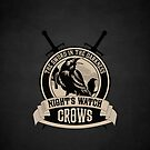 Night's Watch Crest with Swords iPhone Case by liquidsouldes