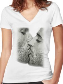A KISS Women's Fitted V-Neck T-Shirt