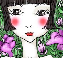 Hibiscus Garden Girl Sticker