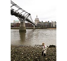 Low tide on the River Thames Photographic Print