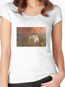 The Abstract World of Flowers Women's Fitted Scoop T-Shirt